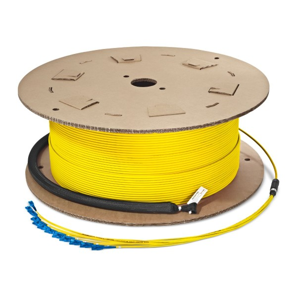 Fiber optic trunk cable 24 fibers singlemode OS2, LC-PC/LC-PC, U-DQ(ZN)BH, with LC Compact