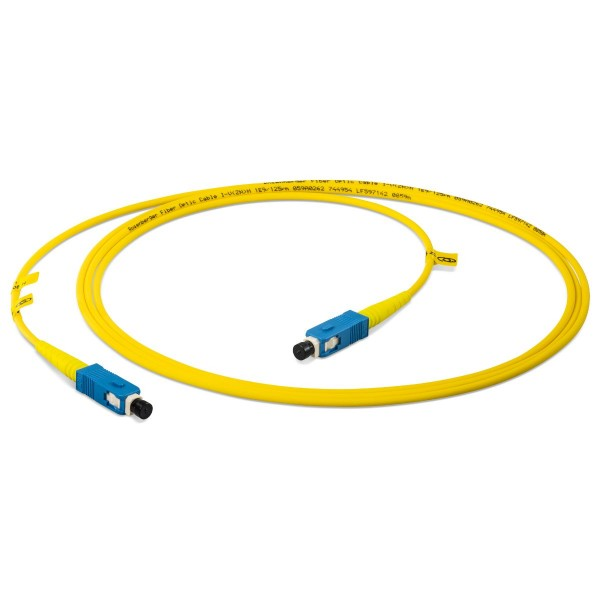 Fiber optic patch cord simplex singlemode OS2, SC-PC/SC-PC, I-V(ZN)H 1x 2,8 mm for measurement purposes