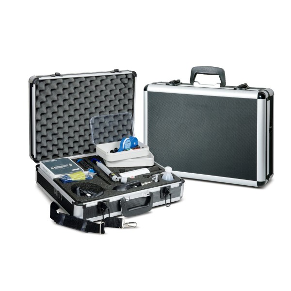Fiber optic inspection and cleaning case complete set for fiber optic connectors with 1.25 mm and 2.5 mm ferrules