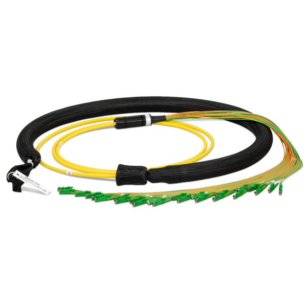 Fiber optic trunk cable 24 fibers singlemode OS2, E2000®-APC/E2000®-APC, U-DQ(ZN)BH