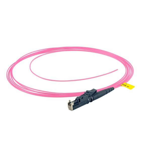 Fiber optic fiber pigtail simplex 2,5 m, multimode OM4, E2000®-PC, V- 900 µm