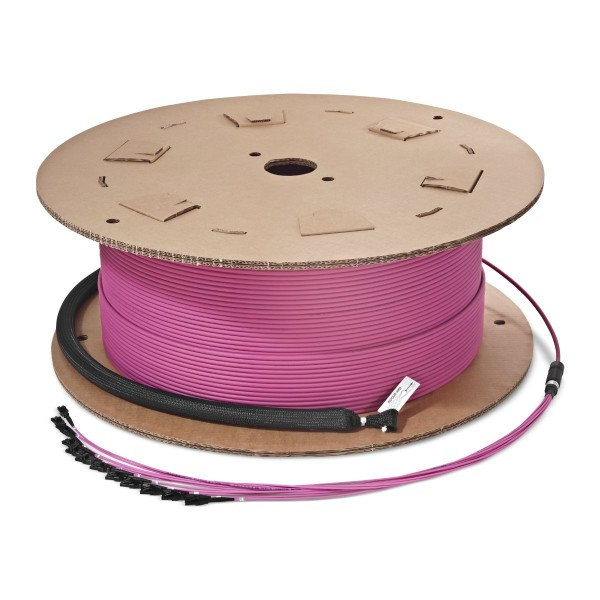 Fiber optic trunk cable multijumper 24 fibers multimode OM4, LC-PC/LC-PC, U-DQ(ZN)BH, with LC Compact