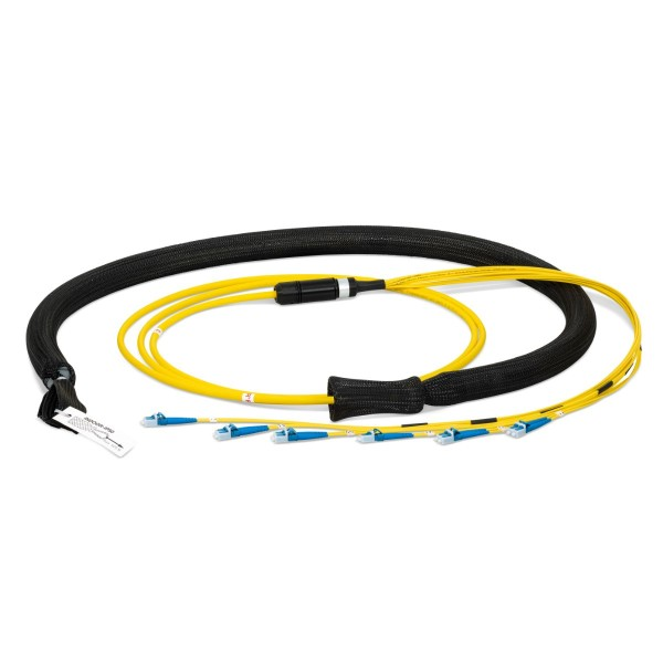 Fiber optic trunk cable multijumper 12 fibers singlemode OS2, LC-PC/LC-PC, U-DQ(ZN)BH