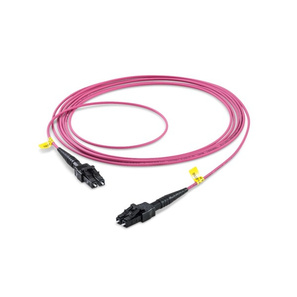 Fiber optic patch cord duplex multimode OM4, LC-PC/LC-PC, I-V(ZN)H rund 2,0 mm, with LC Compact
