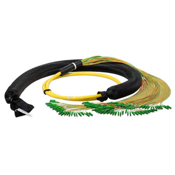 Fiber optic trunk cable 96 fibers singlemode OS2, E2000®-APC/E2000®-APC, U-DQ(ZN)BH