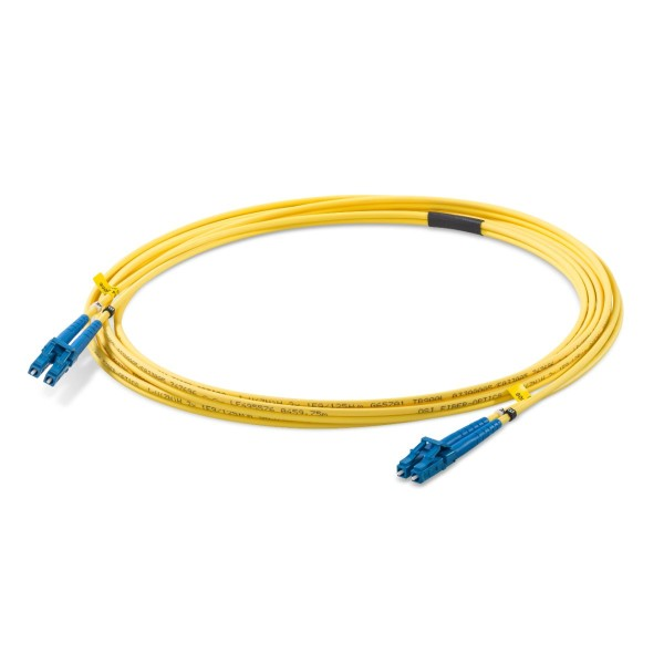 Fiber optic patch cord duplex singlemode OS2, LC-PC/LC-PC, I-V(ZN)H 2x 2,1 mm
