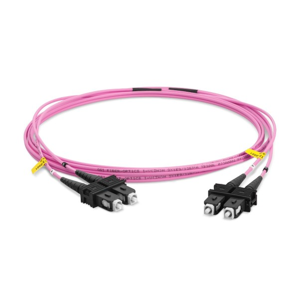 LWL-Patchkabel Duplex Multimode OM4, SC-PC/SC-PC, I-V(ZN)HH 2x 2,8 mm