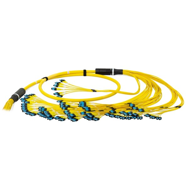Fiber optic trunk cable multijumper 144 fibers singlemode OS2, SC-PC/SC-PC, U-DQ(ZN)BH