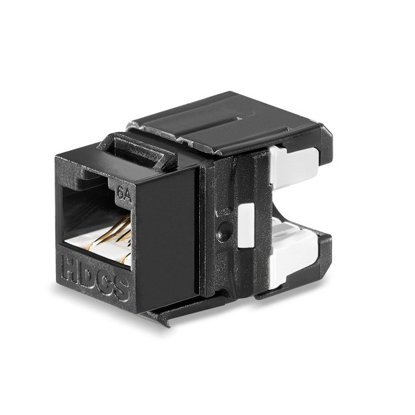 Keystone RJ45 module Cat. 6A, unshielded for 4 copper pairs AWG 26 - AWG 22