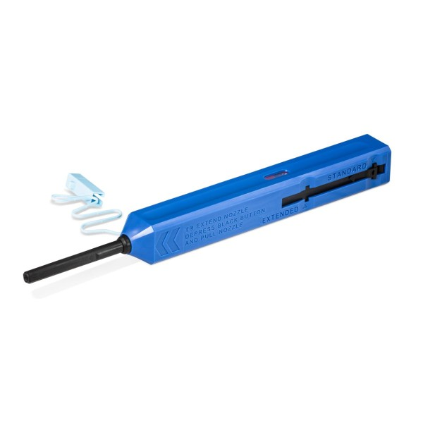 Cleaning tool for fiber optic connectors and fiber optic adapters with 1.25 mm ferrule (click cleaner)