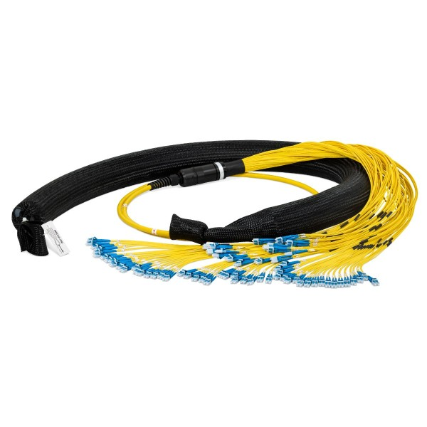 Fiber optic trunk cable 144 fibers singlemode OS2, LC-PC/LC-PC, I-B(ZN)BH