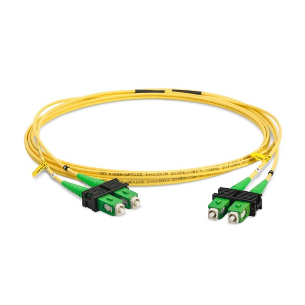 Fiber optic patch cord duplex singlemode OS2, SC-APC/SC-APC, I-V(ZN)H 2x 2,8 mm