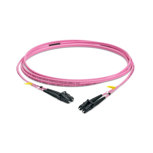Fiber optic patch cord duplex multimode OM4, LC-PC/LC-PC, I-V(ZN)H 2x 2,8 mm