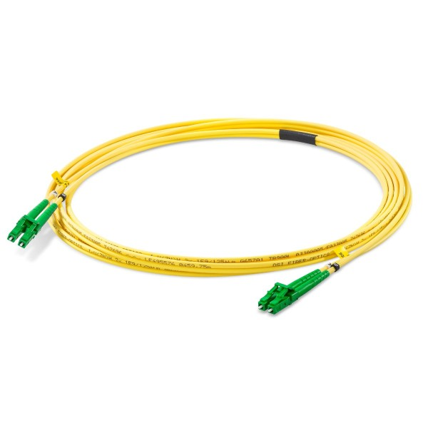 Fiber optic patch cord duplex singlemode OS2, LC-APC/LC-APC, I-V(ZN)H 2x 2,1 mm