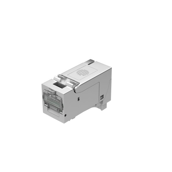 Keystone RJ45 module Cat. 6A, shielded for 4 copper pairs AWG 24 - AWG 22